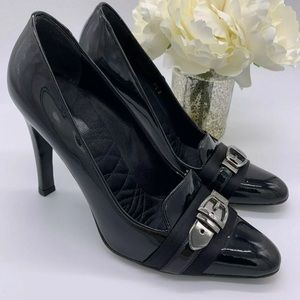 GUCCI Black Patent Leather Heels Size 7.5